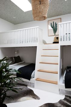 Bunk beds in a styli
