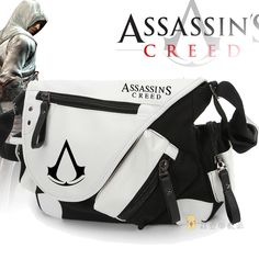 25%OFF Assassin's Creed Game Round Logo Single Shoulder Bag Leather Travel New Canvas Messenger Bag --11.11 Sale ⇛$44.25--Buy it now ⇛http://s.click.aliexpress.com/e/bYb2VB6iE