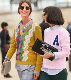varsity jackets at paris fashion week Letterman Sweaters, Street Style 2014, Varsity Jackets, Work Chic, Business Casual, Suits For Women, Paris Fashion, Preppy, Work Wear