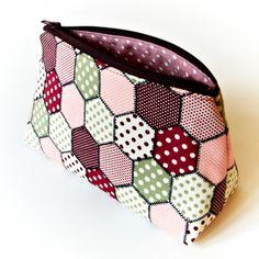 Makeup Cosmetic Bag Geometric Hexagon Patchwork £12.00