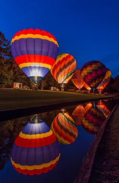 Glow Festival by Aric-Jaye Balloon Glow, Air Balloon Rides, Hot Air Balloon, Balloons Photography, Reflection Photography, Le Vent Se Leve, In The Air Tonight, Vintage Neon Signs, Air Ballon