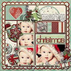 scrapbook christmas layouts | Christmas scrapbook layout | scrapbooking
