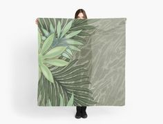 A Run Through the Jungle Scarves by PolkaDotStudio, new, #tropical #green #palm #floral #jungle on #animal skin print, original #art on #apparel #fashion #accessories. Perfect to dress up, #travel, #beach, #island hopping, #gift or just have some fun when going out. Available on #skirts, #tops and #dresses as well as other #products.