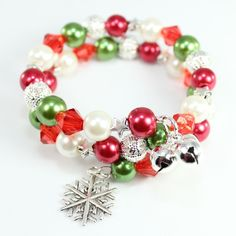 A lovely wrap around bracelet making kit in festive colours, perfect for Christmas! Gorgeous pressies for young ladies from five to ten years old. Full details herehttp://waterfallbeads.com/christmas-bracelet-kits/4586903317