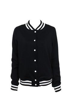 Bomber jacket college preto
