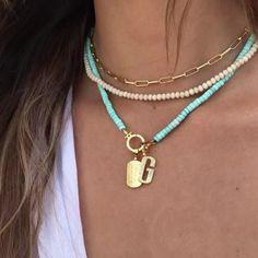 Turquoise Jewelry, Gemstone Jewelry, Beaded Jewelry, Beaded Necklace, Beaded Bracelets, Seashell Necklace, Handmade Bracelets, Handmade Jewelry, How To Make Necklaces