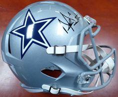 f14fc35e4f17b Dak Prescott Autographed Signed Full Size Dallas Cowboys Helmet BECKETT