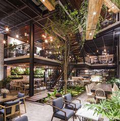 Indoor Gardens For Your Home H Design, House Design, Loft Design, Design Ideas, Loft Cafe, Industrial Cafe, Garden Cafe, Loft Interiors, Architect House
