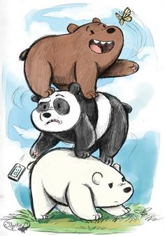 Imagen de we bare bears, drawing, and ice bear