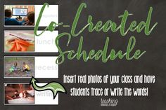 I need to remember this! I am always looking for new class schedule ideas. This printable schedule allows for students to participate in it's creation and allows them to be represented in the images. Allowing students to create the classroom decor helps them take ownership of the classroom and classroom management. I wonder if they will be more engaged in organizing the classroom if they have more ownership?