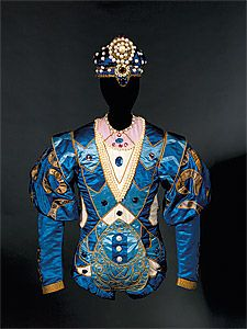 Costume for the Bluebird c.1921: the Ballets Russes' production of The Sleeping Princess  First performed 2 November 1921, Alhambra, London