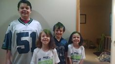 #ScentsyLife  My UBER supportive famiy sporting the Seahawks Colors.  Go Team <3