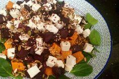 Roast Beetroot & Pumpkin Salad w Fetta