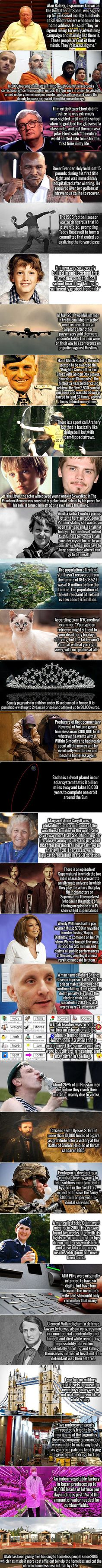 It is that time again, time for some more interesting facts.