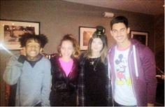 #AlejandroSpeitzer y #MinnieWest con la modelo estadounidense #KylieJennery y el actor, rapero y bailarín estadounidense #JadenSmith.