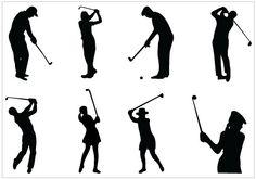 Golf silhouette clip art Pack Template - Silhouette Clip ArtSilhouette Clip Art