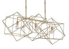 Erickson Rectangular Chandelier design by Currey & Company