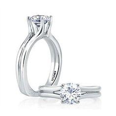 A. Jaffe for Forevermark Split Shank 18KWG Diamond Engagement Ring Mounting - http://designerjewelrygalleria.com/a-jaffe/a-jaffe-for-forevermark-split-shank-18kwg-diamond-engagement-ring-mounting/