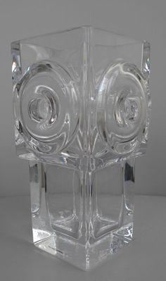 SKRUF DESIGN CRYSTAL GLAS VASE BENGT EDENFALK SWEDEN Retro Art, Sweden, Glass Art, Ceramics, Crystals, Ebay, How To Make, Design, Vintage