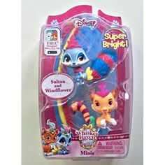 Disney Whisker Haven Tales with the Palace Pets Super Bright Minis -Sultan ; Windflower