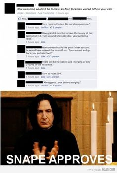 Snape GPS (I would LOVE this)