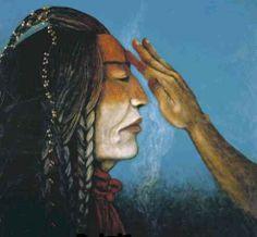 Cree artist Dale Auger , Medicine Paint