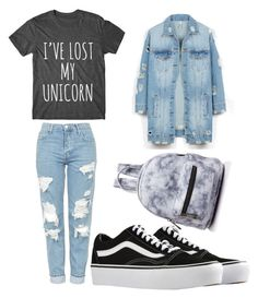 """""""🖤🖤"""" by stefanie-ege on Polyvore featuring Topshop, Vans, Street Level and LE3NO"""