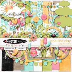 {One Fine Day} — Fayette Design Printable Scrapbook Paper, Baby Scrapbook, Free Digital Scrapbooking, Scrapbooking Layouts, Digital Papers, Png Pack, 1st Birthday Pictures, One Fine Day, Book Crafts