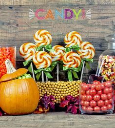 Autumn candy buffet