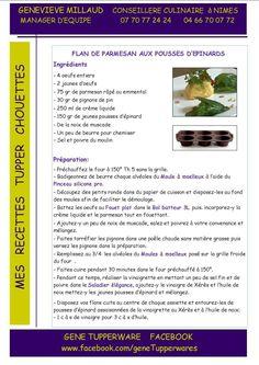Entrée - Flan de parmesan aux pousses d'épinards - Tupperware