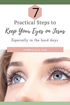 No matter what the hard times are, you need to keep your eyes on Jesus. Let me give you some practical tips to do that. Includes a free set of Bible Verse Cards. #keepyoureyesonJesus #focusonGod #looktoJesus #biblestudy #biblestudyforwomen