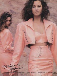 Christy Turlington & Cindy Crawford - North Beach Leather 1988