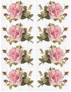 Decoupage Vintage, Decoupage Paper, Vintage Paper, Decoupage Printables, Printable Scrapbook Paper, Flower Template, Vintage Labels, Handmade Soaps, Vintage Flowers