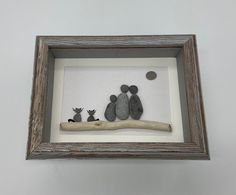 Excited to share this item from my shop: Pebble Art Family with 2 cats 5 by 7 framed Pebble Stone, Stone Art, Pebble Pictures, Art Pictures, Pebble Art Family, Family Of Three, Sea Glass Crafts, Coastal Wall Art, Unique Birthday Gifts
