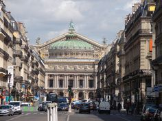 Paris Opera House - our apartment was on one of these side streets.
