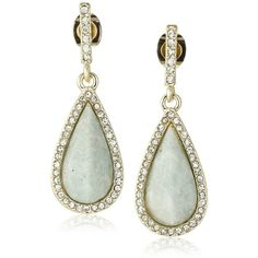 Karen Kane Coronado Teardrop Earrings (165 PEN) ❤ liked on Polyvore featuring jewelry, earrings, gold tone earrings, teardrop earrings, tear drop earrings, gold tone jewelry and teardrop shaped earrings