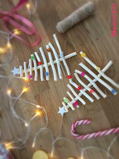 Addobbi natalizi con bastoncini di legno