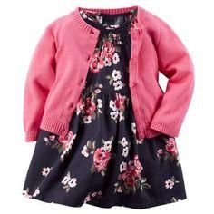 2-Piece Smocked Dress  Sweater Set