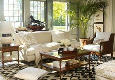 Tropical Living Room Interior in Classic Style Interior S, Living Room Interior, Home Decor Bedroom, Home Interior Design, Living Room Decor, Moving Furniture, Home Furniture, Furniture Design, British Colonial Style