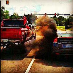 Thats why you dont mess with diesel power. Jacked Up Trucks, Dodge Trucks, Jeep Truck, Cool Trucks, Big Trucks, Pickup Trucks, Lifted Chevy, Dodge Cummins, Mudding Trucks