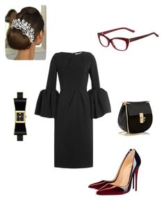 """Black Ribbon Ties"" by coomergirl on Polyvore featuring Roksanda, Chloé, Kate Spade, Christian Louboutin and Valentino"