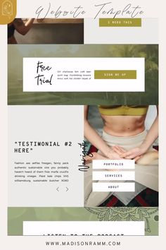Portfolio Website Design, Website Design Layout, Homepage Design, Website Design Inspiration, Yoga Websites, Spa Website, Beautiful Website Design, Minimal Web Design, Web Banner Design