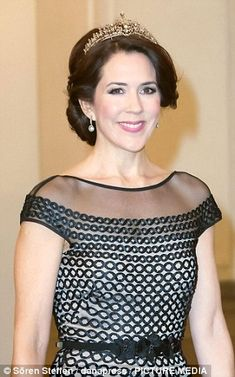 Old favourite: The Crown Princess first wore the item as a necklace, for the Gala Night which marked the 75th birthday of Queen Margrethe II of Denmark, in 2015