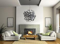 Modern Fireplace Design Ideas Inspiration for Your Home - Home Design and Home Interior Interior Walls, Interior Design Living Room, Living Room Designs, Design Room, Sofa Design, Color Interior, Interior Photo, Luxury Interior, Kitchen Interior