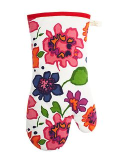 festive floral printed oven mitt - kate spade new york