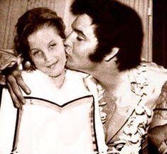 Elvis Aaron Presley and Lisa Marie Presley