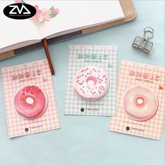 1X cute Delicious donuts weekly plan Sticky Notes Post Memo Pad kawaii stationery School Supplies Planner Stickers Paper. Yesterday's price: US $1.24 (1.02 EUR). Today's price: US $0.87 (0.72 EUR). Discount: 30%.
