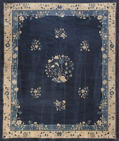Peking Carpet Stock Id: 23682 Circa: 1900 Width: 8' 4'' ( 254 cm ) Length: 9' 10'' ( 300 cm ) http://www.antiquerugstudio.com/Chinese%20-%20Peking/23682 #peking #pekingcarpet #antique #handmade #artwork #finecarpet #floorplan #flooring #interior #interiordesign