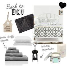 Back to Uni Essentials Uni Essentials, Back To University, Interior Decorating, Interior Design, Put Together, Visual Merchandising, Sweet Home, Luxury Fashion, Polyvore