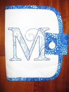 Mama's Stuff Sewing Organizer from Sweetwater with Scrollworks Alphabet from OESD embellishment.
